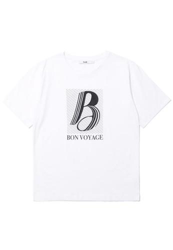 b+ab white Bon Voyage tee 60ABAAA72F0BDDGS_1