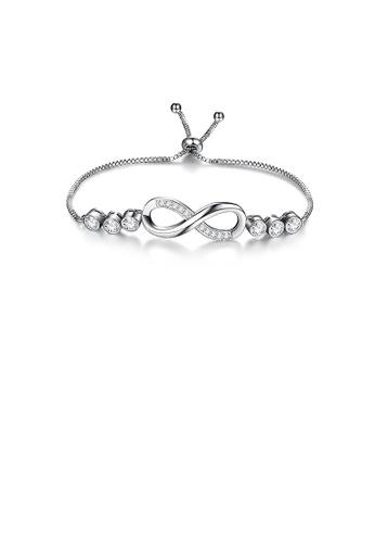 Glamorousky white Fashion Temperament Infinity Symbol Bracelet with Cubic Zirconia 33F81ACE5B3020GS_1
