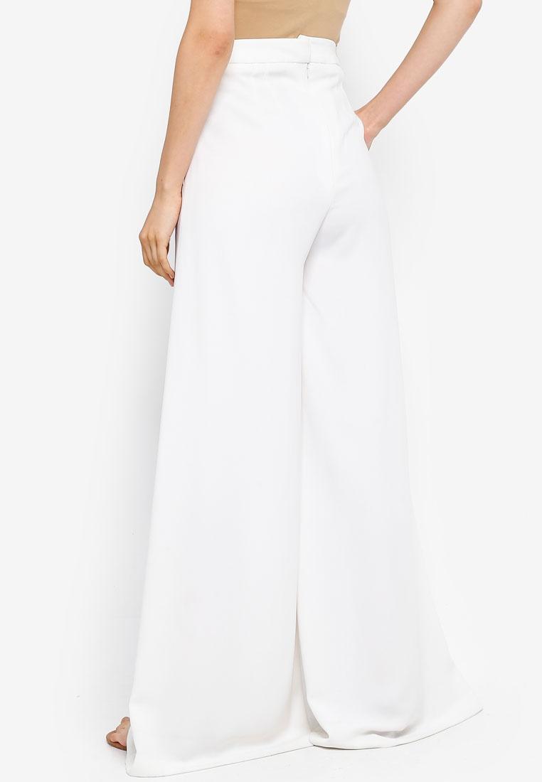 White AfiqM Wide AfiqM Pants Leg Wide 0XfPSq8wZR