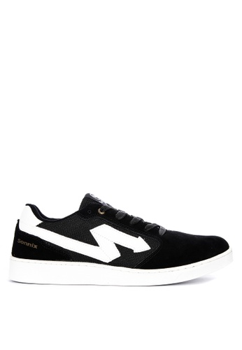 Sonnix black Maul Q218 Laced-Up Sneakers 44A90SH7A06C85GS_1