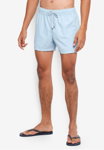 Topman blue Light Blue Swim Shorts 7B6B8USF271749GS_1