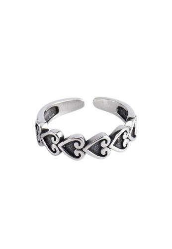 OrBeing white Premium S925 Sliver Heart Ring E3201ACDFEFC3FGS_1