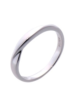 Wave Two Silver Ring for Men lr0045m