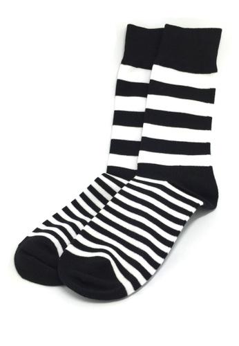 Splice Cufflinks multi Constable Series Black and White Horizontal Stripes Socks SP744AA83JBCSG_1