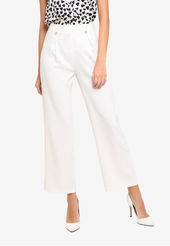 ZALORA white Wide Leg Pants 88569AAF546A34GS_1