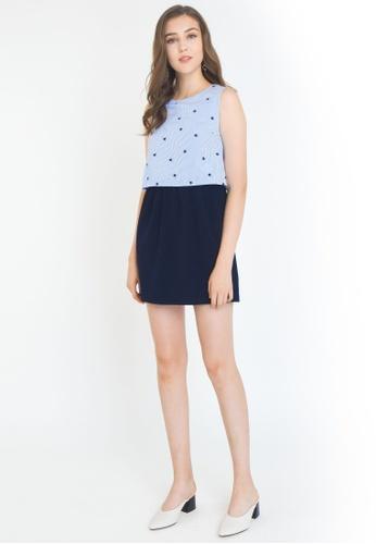L'zzie blue LZZIE CINELLO DRESS - BLUE EFDD3AA69B460FGS_1