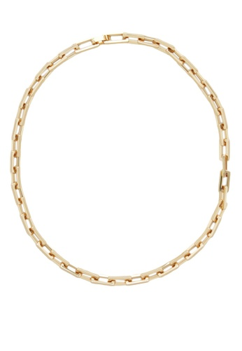 Cos gold Rectangle Link Necklace 7E533ACB3F67DDGS_1