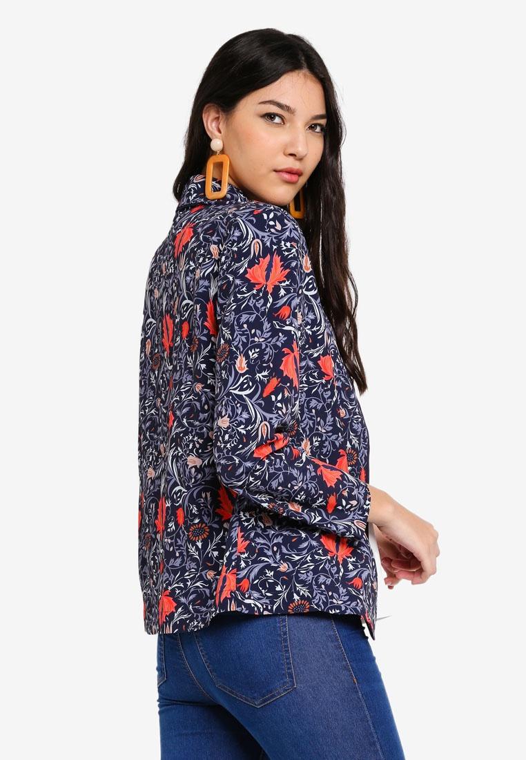 Liquorish Multicolor Multi Print Jacket Floral wfnCq4R7x