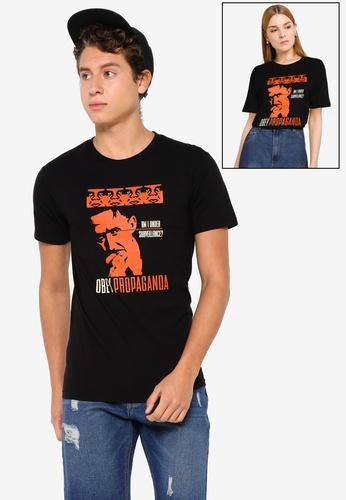 OBEY black Surveillance T-shirt D1431AA1D88758GS_1