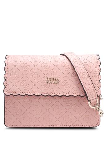 Guess pink Rayna Mini Crossbody Flap C24BCAC45A11E3GS_1