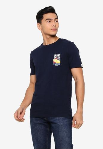 Jack & Jones 海軍藍色 Souvenir 圓領T恤 6A945AAE815C05GS_1