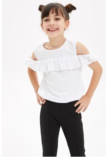 DeFacto white Girl Knitted Short Sleeve Body 4CA77KA15368E0GS_1