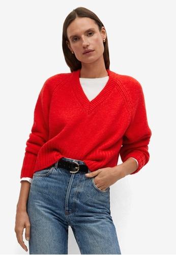 Mango red Mango Sweater 285BFAAD11C3EDGS_1