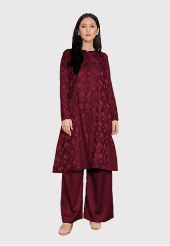 LosraVelda red Naina Top and Pants E2F2FAAFE8734FGS_1