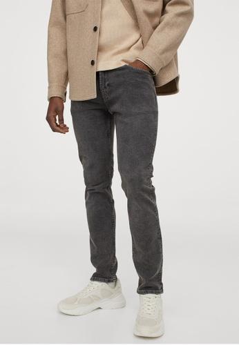H&M grey Slim Jeans 1CC8BAAD47E8E9GS_1