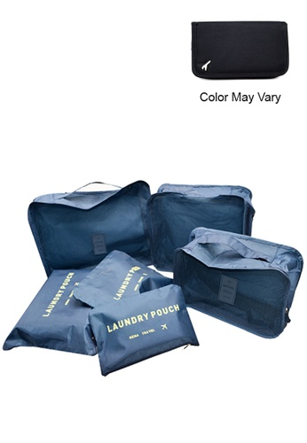 Manmico blue 6 in 1 Secret Pouch Travel Organizer Set with free Passport Travel Pouch (Color MayVary) MA606AC95XTSPH_1