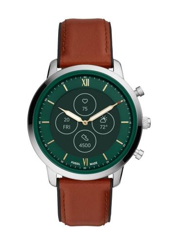 Fossil brown Neutra Hybrid HR Smartwatch FTW7026 C42EDAC49D30CDGS_1