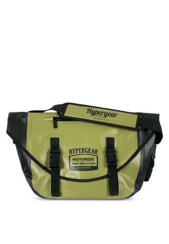 Hypergezalora 心得 pttar 雙扣帶翻蓋斜背包, 包, 飾品配件