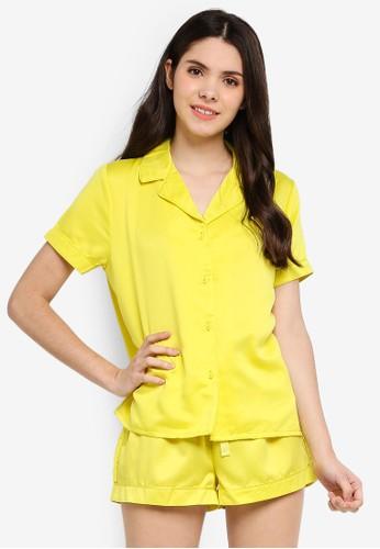 Supre yellow Satin Sleep Shirt 446D4AAFD9D5D8GS_1