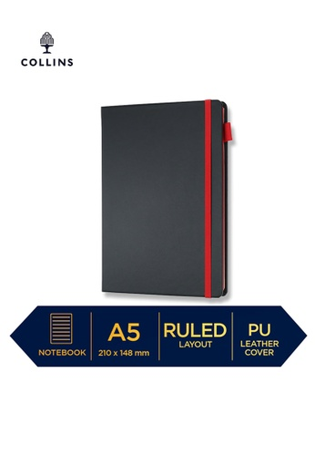 Collins red Collins Vauxhall Contrast  ─  NotebookPocket Ruled Red 85ADAHL64ABEB4GS_1