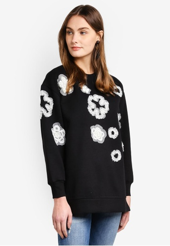 78a18719ef90b2 Shop French Connection Josephine Embellished Jersey Sweater Online on  ZALORA Philippines