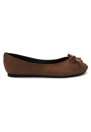 midzone brown MIDZONE Comfortable Ballet Flat 710B7SH75DA5A0GS_1