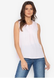 MARKS & SPENCER pink Pleated Shell Top BBB7BAA1E4E20CGS_1