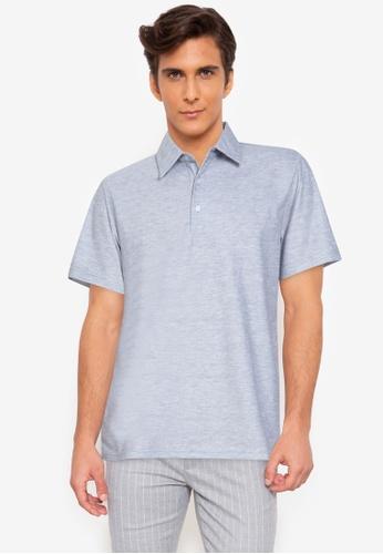 ZALORA BASICS 灰色 Short Sleeve Polo Shirt 8F54EAAD197665GS_1