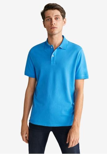 Mango Man 藍色 Basic POLO衫 0C150AACA38C9BGS_1