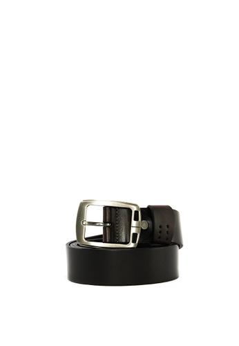 SEMBONIA black SEMBONIA Men Casual Leather Belt FC427ACE489F96GS_1