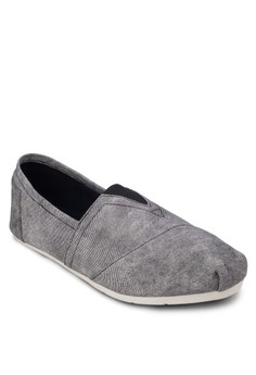Washed Canvas Slip Ons