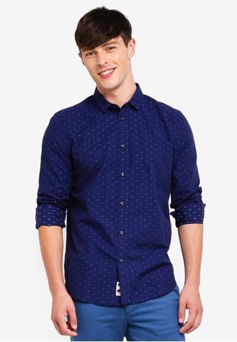 Sisley 藍色 基本款舒適純棉襯衫 A53EEAA3FB687DGS_1