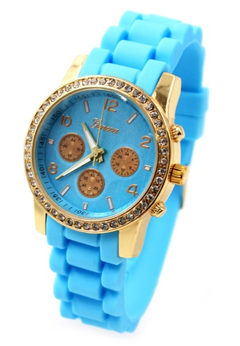 World of Watches blue Geneva Marisse Women's Silicon Strap Watch WO566AC29CAWPH_1