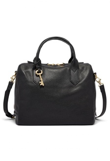 Fossil Fiona - Leather - Satchel - Black - Tas Wanita - ZB7268-001  13564ACC1CE2C5GS 1 3ed9da51db