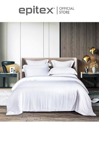 Epitex white Epitex MD3024-01 1200TC Modal Dobby Fitted Sheet Set - Bedsheet (w/o quilt cover) 3B1F7HL3043B43GS_1