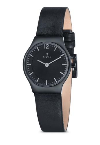 EDLA 雙指esprit 雨傘針皮革錶, 錶類, 飾品配件