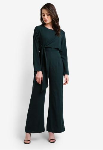 BYN green Long Sleeve Jumpsuit BY059AA0RRRFMY_1