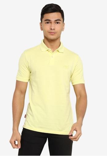 SUPERDRY green Classic Micro Lightweight Short Sleeve Pique Polo Shirt 35B24AA564B342GS_1