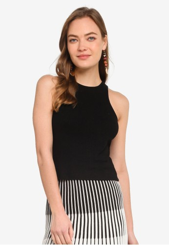 Trendyol black Basic Knitted Cami Top 7E7DCAA4FE4EF1GS_1