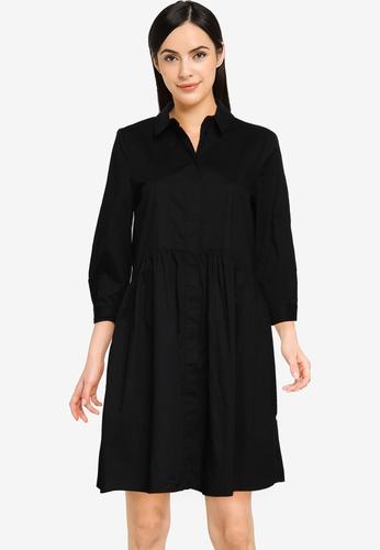 Vero Moda black Maggie 3/4 Sleeves Dress 88E74AAB63E9A7GS_1