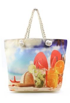 Summer Fresh Cool Beach Tote Bag