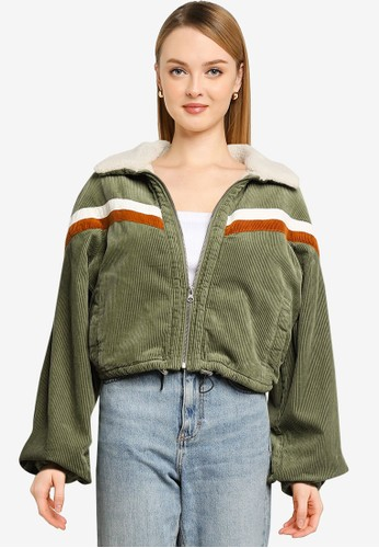 Cotton On green and multi Retro Bomber Jacket 019E2AA9BE47B7GS_1