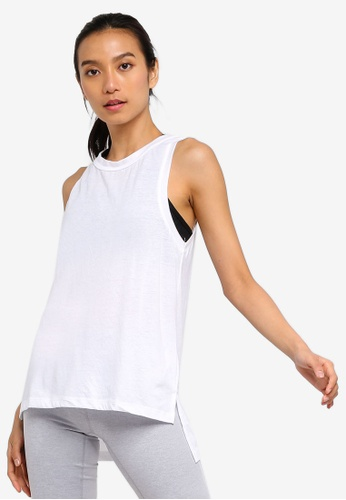 Cotton On Body white Jersey High Neck Tank Top 985F6AAC40BEFFGS_1