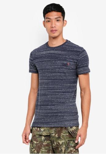 Superdry 海軍藍色 混色短袖T恤 E5345AA9CA480FGS_1
