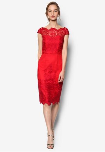Dakoesprit home 台灣ta 鉤針蕾絲蓋袖連身裙, 服飾, 服飾
