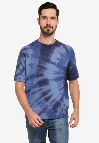 Banana Republic blue Terry Tie Dye Crew Neck T-Shirt 0933DAA645AEE4GS_1