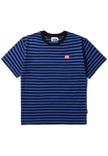 izzue blue Reversed stripe tee EF3D0AAB0EEAD0GS_1