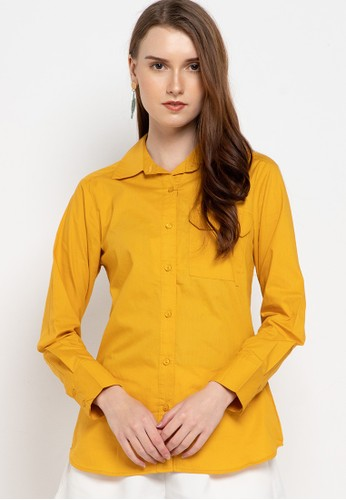 novel.mice yellow Sustainable Fit Cotton Shirt 14C27AA1334CBCGS_1