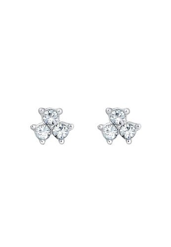 Elli Germany white Filigree Geo Classic Swarovski® Crystals 925 Sterling Silver Earrings EL474AC0S1ZKMY_1
