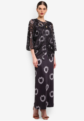 Rizalman for Zalora black Loose Top Jersey Kurung RI909AA0SF10MY_1